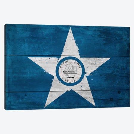 Houston, Texas City Flag on Wood Planks Canvas Print #FLG114} by iCanvas Canvas Print