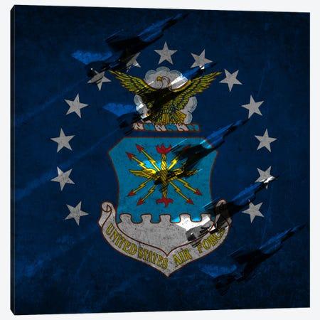 "U.S. Air Force Flag (Air Demonstration Squadron ""Thunderbirds"" Background) Canvas Print #FLG11} by iCanvas Canvas Art Print"