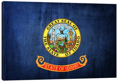 State Flag Grunge Series: Idaho II Canvas Print #FLG121