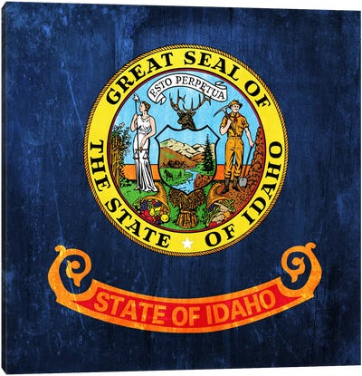 State Flag Grunge Series: Idaho I Canvas Print #FLG122