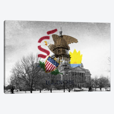 Illinois (Capitol Building) Canvas Print #FLG125} by iCanvas Canvas Wall Art