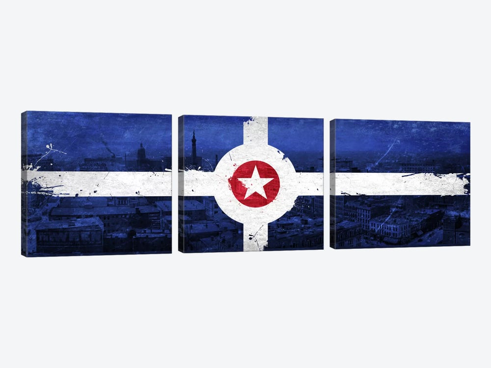 Vintage Flag by iCanvas 3-piece Canvas Wall Art