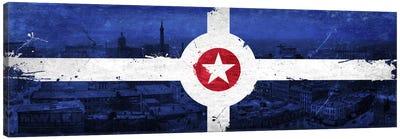 Vintage Indianapolis City Flag Canvas Art Print