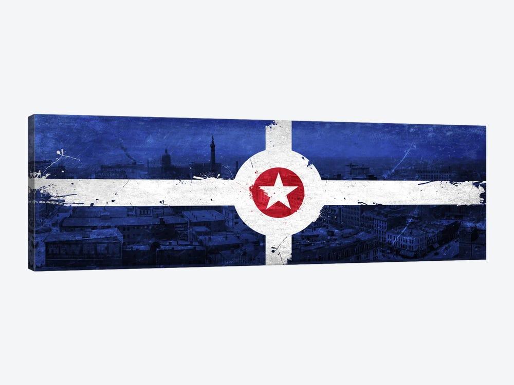 Vintage Indianapolis City Flag by iCanvas 1-piece Canvas Art