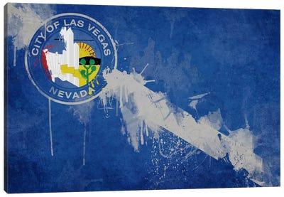 Las Vegas, Nevada Fresh Paint City Flag Canvas Print #FLG191