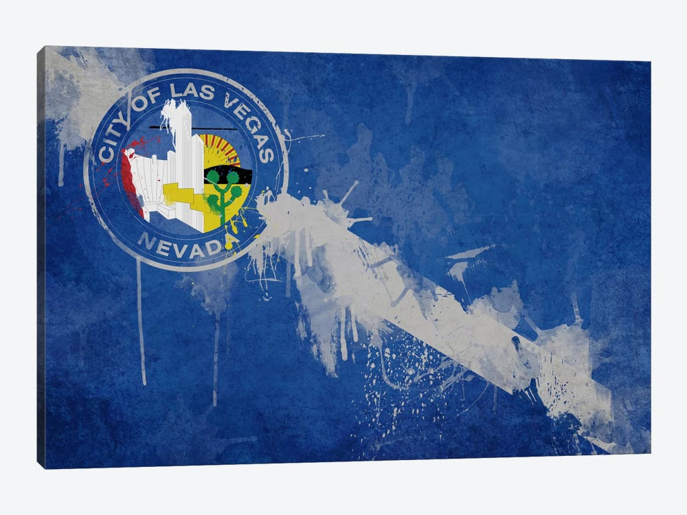 Las Vegas, Nevada Fresh Paint City Flag by iCanvas 1-piece Canvas Print