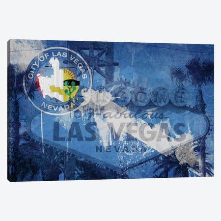 City Flag Overlay Series (Fresh Paint): Las Vegas, Nevada (Welcome Sign) Canvas Print #FLG194} by iCanvas Canvas Art Print