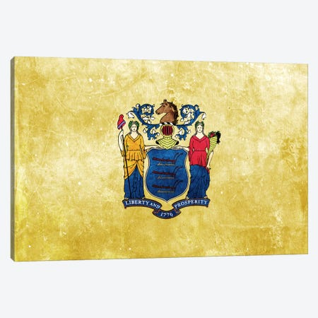 State Flag Grunge Series: New Jersey I Canvas Print #FLG271} by iCanvas Canvas Print