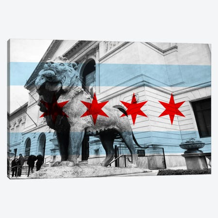 Chicago FlagArt Institute of Chicago Canvas Print #FLG27} by iCanvas Canvas Print