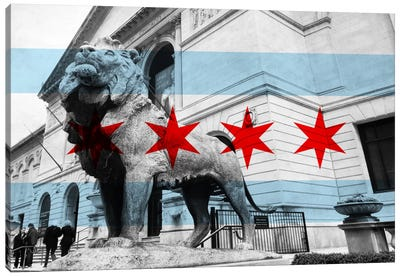 Chicago FlagArt Institute of Chicago Canvas Art Print