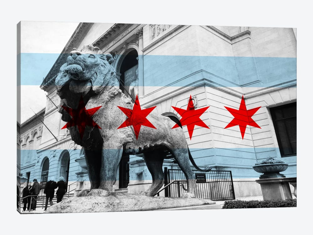 Chicago FlagArt Institute of Chicago by iCanvas 1-piece Canvas Print