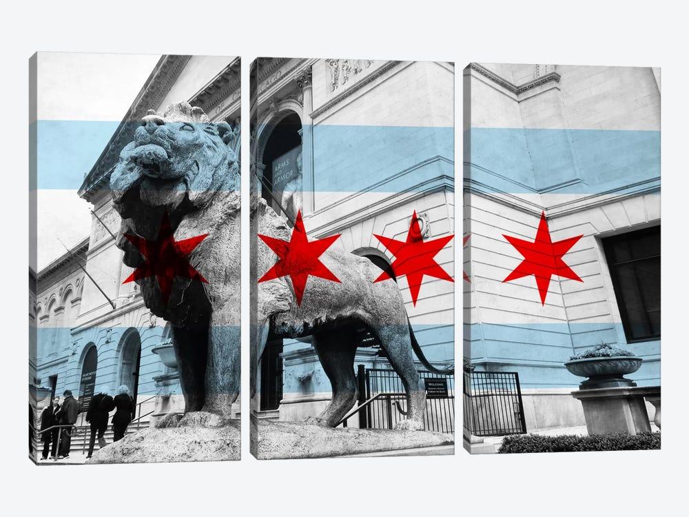 Chicago FlagArt Institute of Chicago by iCanvas 3-piece Art Print