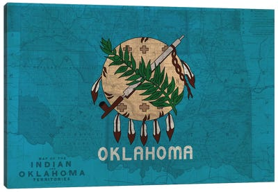 Oklahoma (Vintage Map) Canvas Art Print