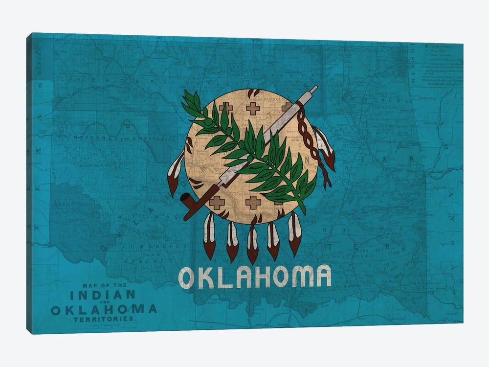 Oklahoma (Vintage Map) by iCanvas 1-piece Canvas Art Print