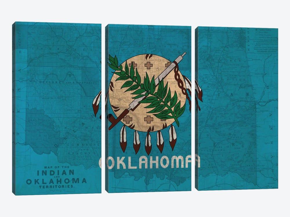 Oklahoma (Vintage Map) by iCanvas 3-piece Art Print