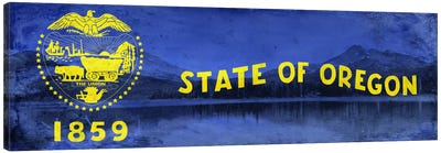 State Flag Overlay Series: Oregon (Crater Lake National Park) Canvas Print #FLG306