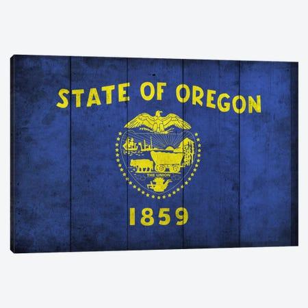 Oregon (Wood Planks) Canvas Print #FLG310} by iCanvas Canvas Art