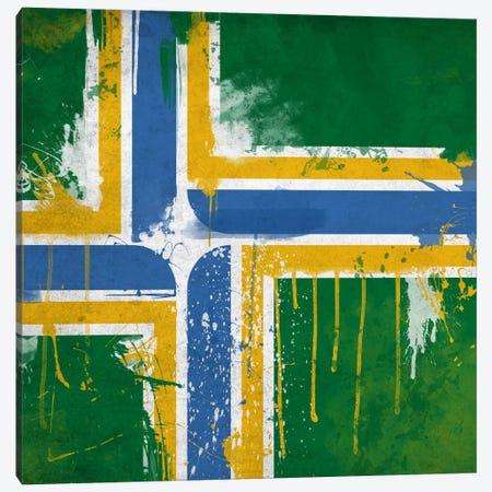 Portland, Oregon Paint Drip City Flag Canvas Print #FLG318} by iCanvas Canvas Artwork