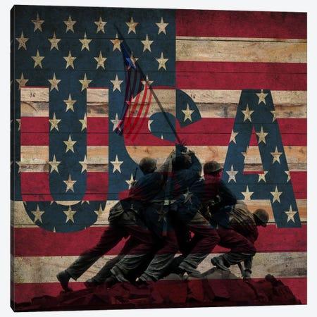 U.S. Marine Corps War Memorial (Iwo Jima Memorial) Flag Canvas Print #FLG327} by iCanvas Canvas Wall Art