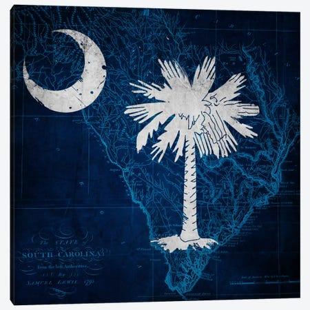 South Carolina (Vintage Map) Canvas Print #FLG373} by iCanvas Canvas Artwork