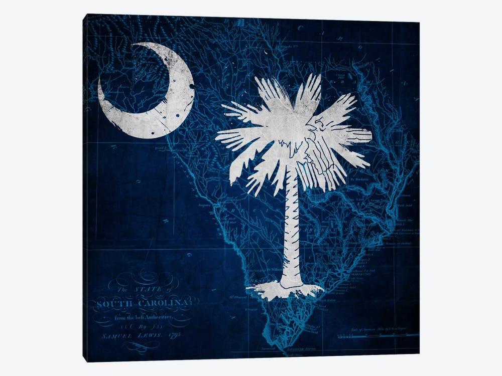 South Carolina (Vintage Map) by iCanvas 1-piece Canvas Artwork