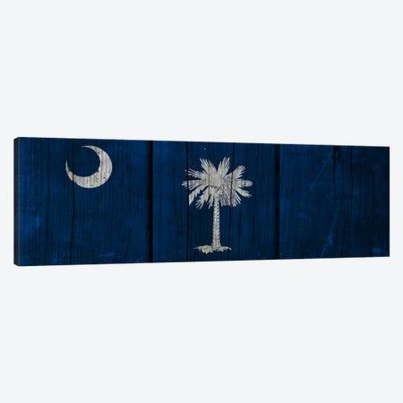 South Carolina Flag on Wood Planks Canvas Print #FLG377} by iCanvas Art Print