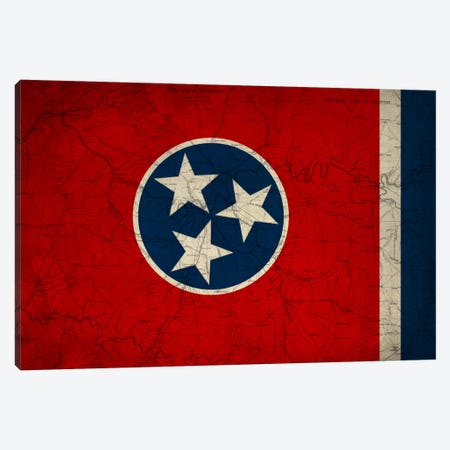 Tennessee (Vintage Map) Canvas Print #FLG397} by iCanvas Canvas Art Print