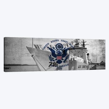 U.S. Coast Guard Flag (USCGC Dallas Background) I Canvas Print #FLG39} by iCanvas Canvas Print