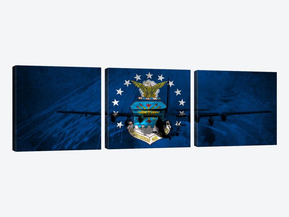 U.S. Air Force Flag (AC-130U Gunship Background) by iCanvas 3-piece Art Print