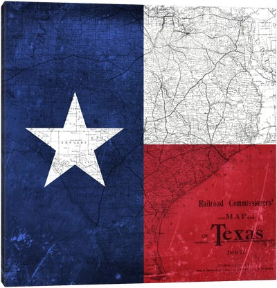 Texas (Vintage Map) I Canvas Art Print