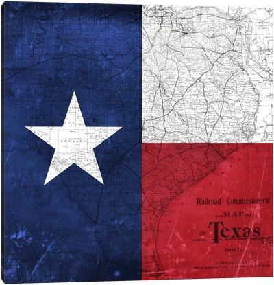 Texas (Vintage Map) I Canvas Art Print