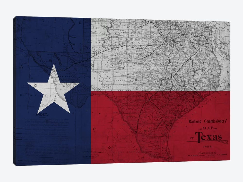 Texas (Vintage Map) II by iCanvas 1-piece Art Print
