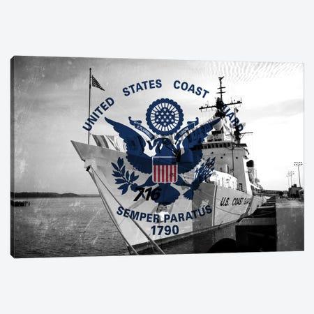 U.S. Coast Guard Flag (USCGC Dallas Background) III Canvas Print #FLG41} by iCanvas Canvas Art