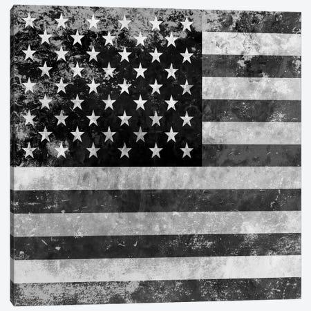 """Grungy"" USA Flag Canvas Print #FLG422} by iCanvas Canvas Wall Art"
