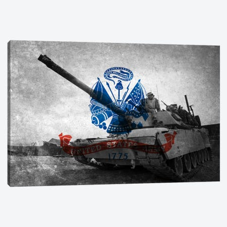 U.S. Army Flag (Abrams Tank Background) Canvas Print #FLG430} by iCanvas Canvas Print