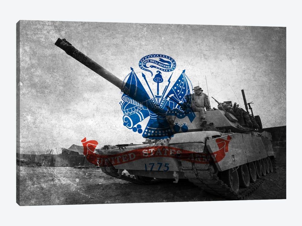 U.S. Army Flag (Abrams Tank Background) by iCanvas 1-piece Canvas Artwork