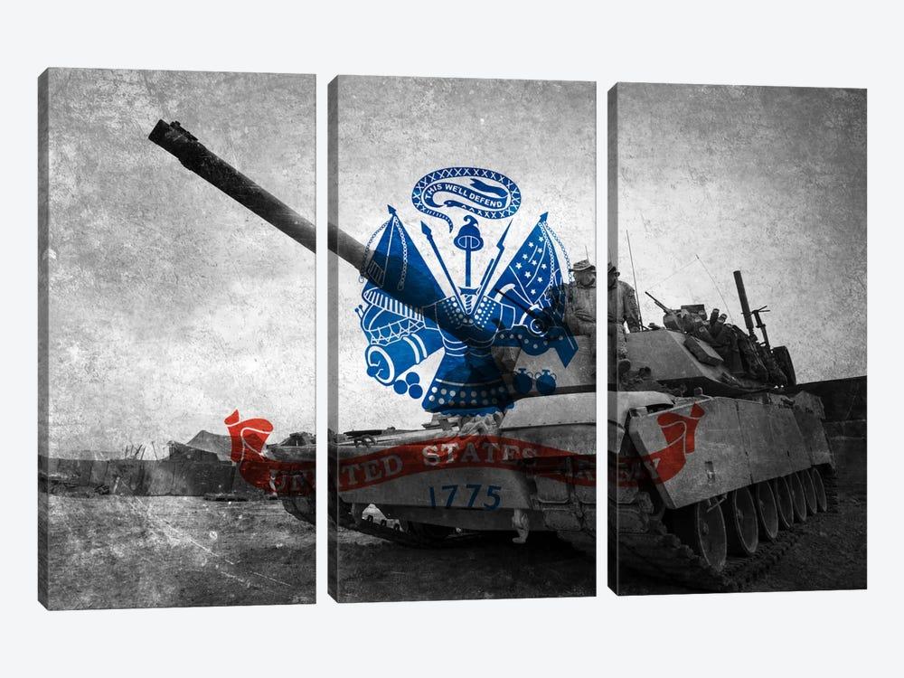 U.S. Army Flag (Abrams Tank Background) by iCanvas 3-piece Canvas Artwork