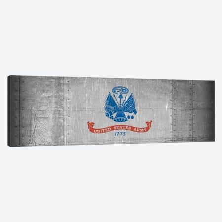 U.S. Army Flag (Riveted Metal Background) I Canvas Print #FLG433} by iCanvas Canvas Art Print