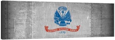 U.S. Army Flag (Riveted Metal Background) I Canvas Art Print