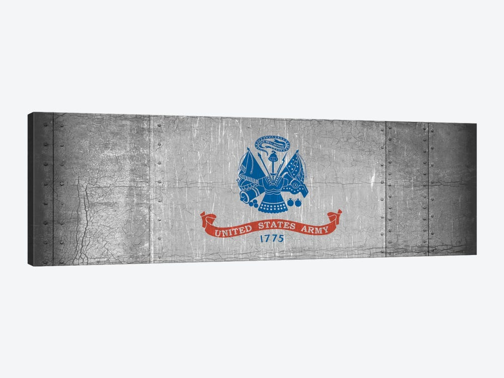 U.S. Army Flag (Riveted Metal Background) I by iCanvas 1-piece Art Print