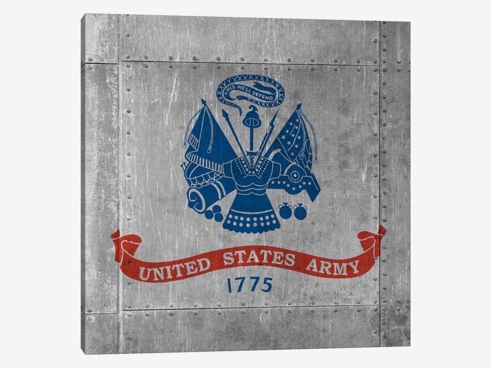 U.S. Army Flag (Riveted Metal Background) III by iCanvas 1-piece Art Print
