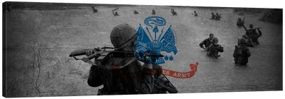 U.S. Army Flag (Unit On The Move Background) Canvas Art Print