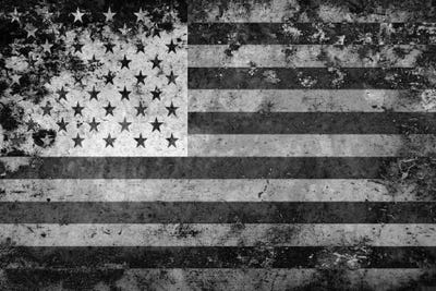 flag american usa melting canvas flags print film icanvas prints grunge collection horizontal artwork spelplus sold
