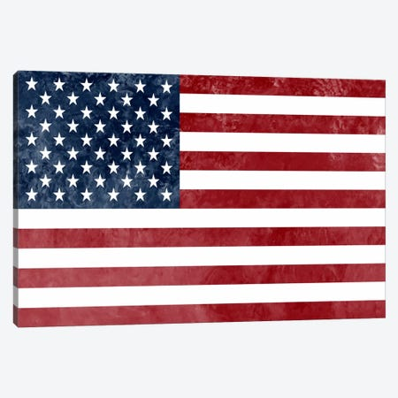 "USA ""Grungy"" Flag Canvas Print #FLG445} by iCanvas Canvas Art Print"