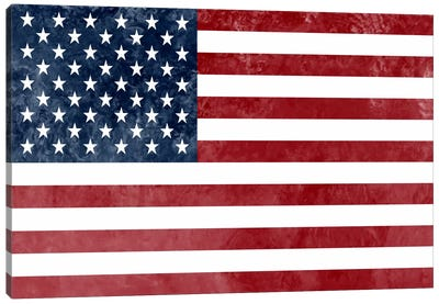 "USA ""Grungy"" Flag Canvas Art Print"
