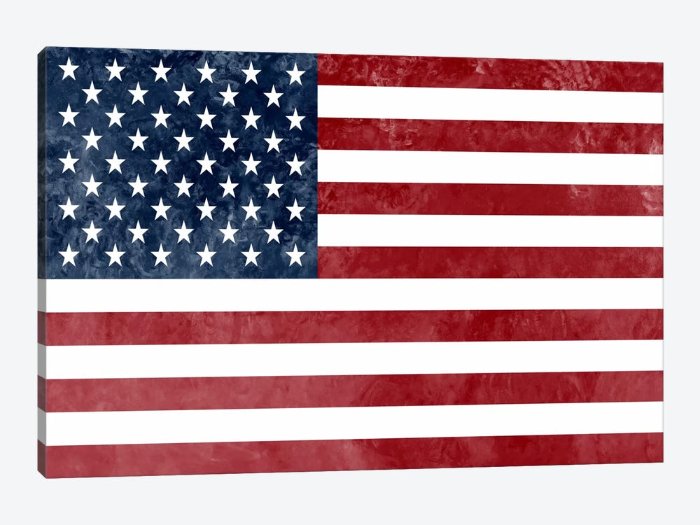 "USA ""Grungy"" Flag by iCanvas 1-piece Canvas Art"