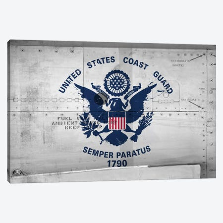 U.S. Coast Guard Flag (Sikorsky UH-60 Ambient Sense Port Background) II Canvas Print #FLG45} by iCanvas Canvas Print