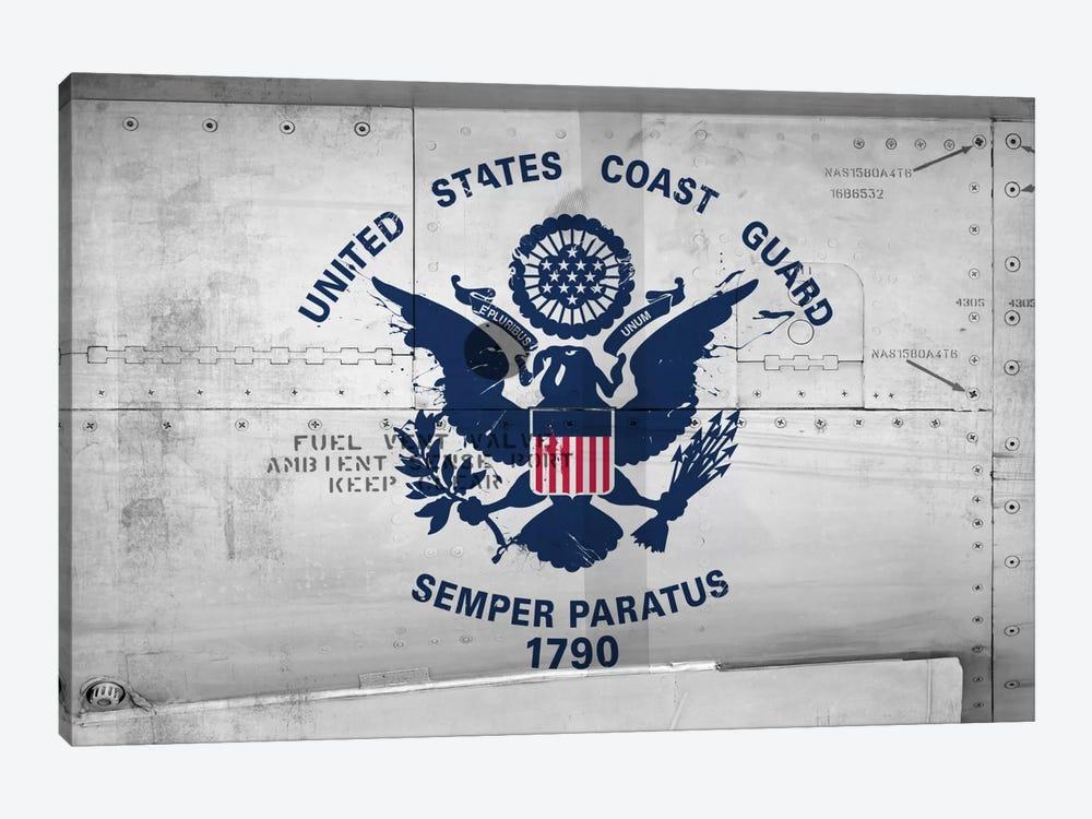 U.S. Coast Guard Flag (Sikorsky UH-60 Ambient Sense Port Background) II by iCanvas 1-piece Canvas Print