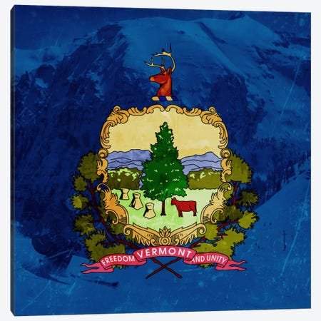 Vermont (Skiing) Canvas Print #FLG461} by iCanvas Canvas Artwork