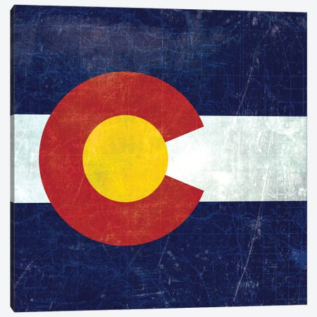 State Flag Overlay Series: Colorado (Vintage Map) Canvas Print #FLG46} by iCanvas Canvas Print